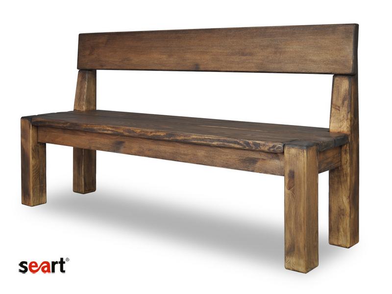 lavice mořené dřevo