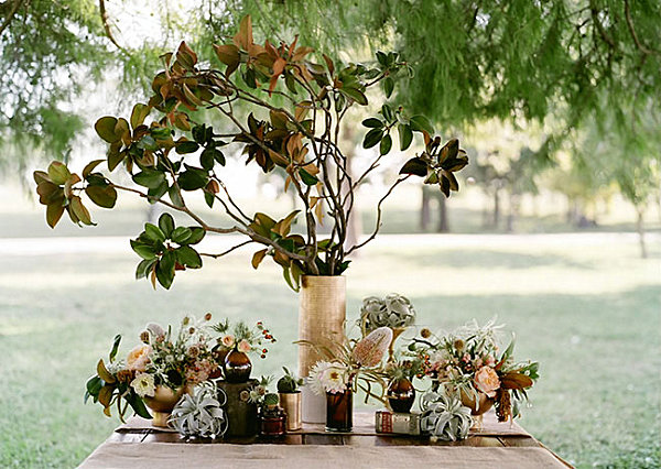 Plant-decorations-on-a-Thanksgiving-table