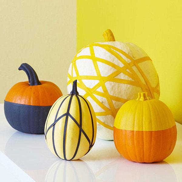 Pumpkin-decoration-with-masking-tape